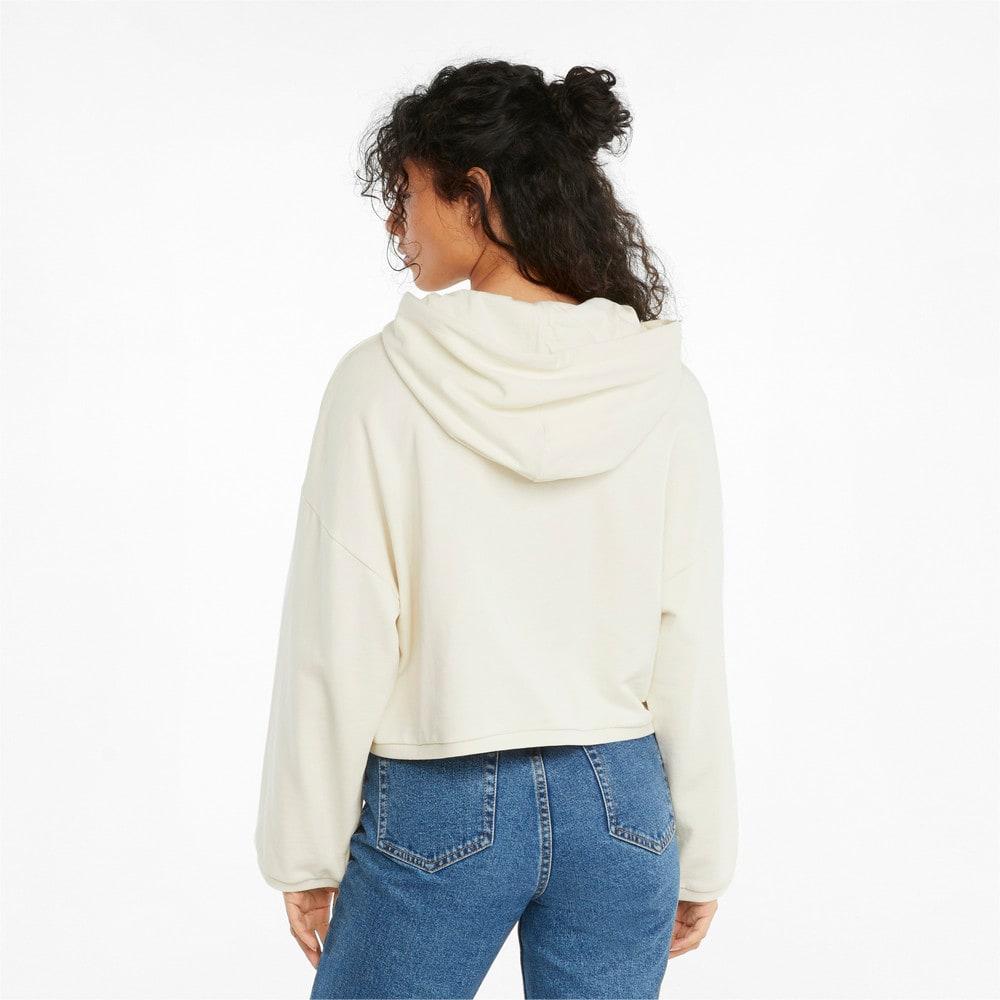 Изображение Puma Толстовка RE.GEN Cropped Women's Hoodie #2: Ivory Glow