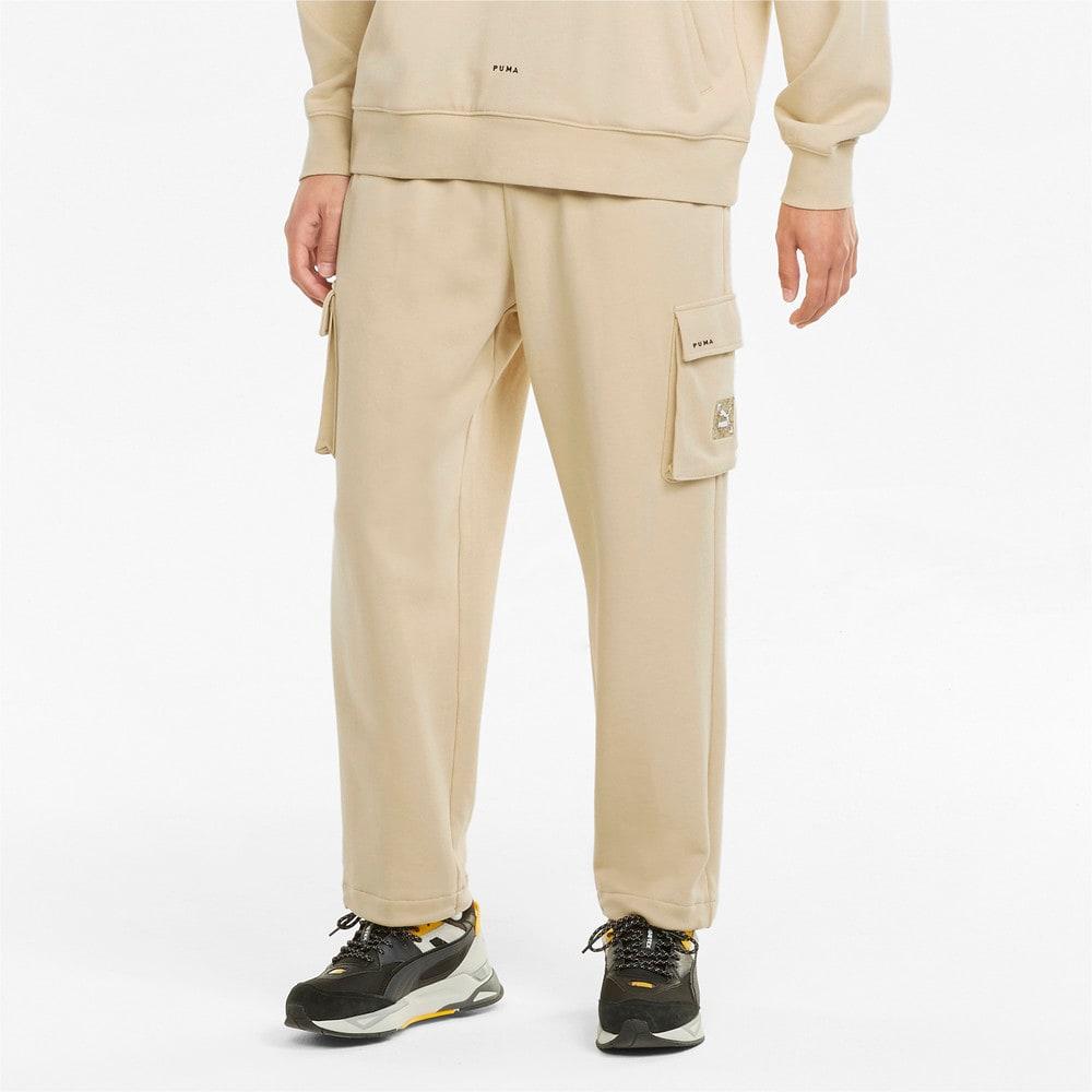 Изображение Puma Спортивные штаны RE.GEN Cargo Sweatpants #1: Pebble