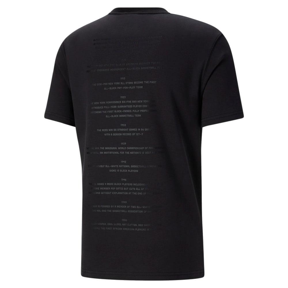 Görüntü Puma BLACK FIVES TIMELINE Erkek Basketbol T-shirt #2
