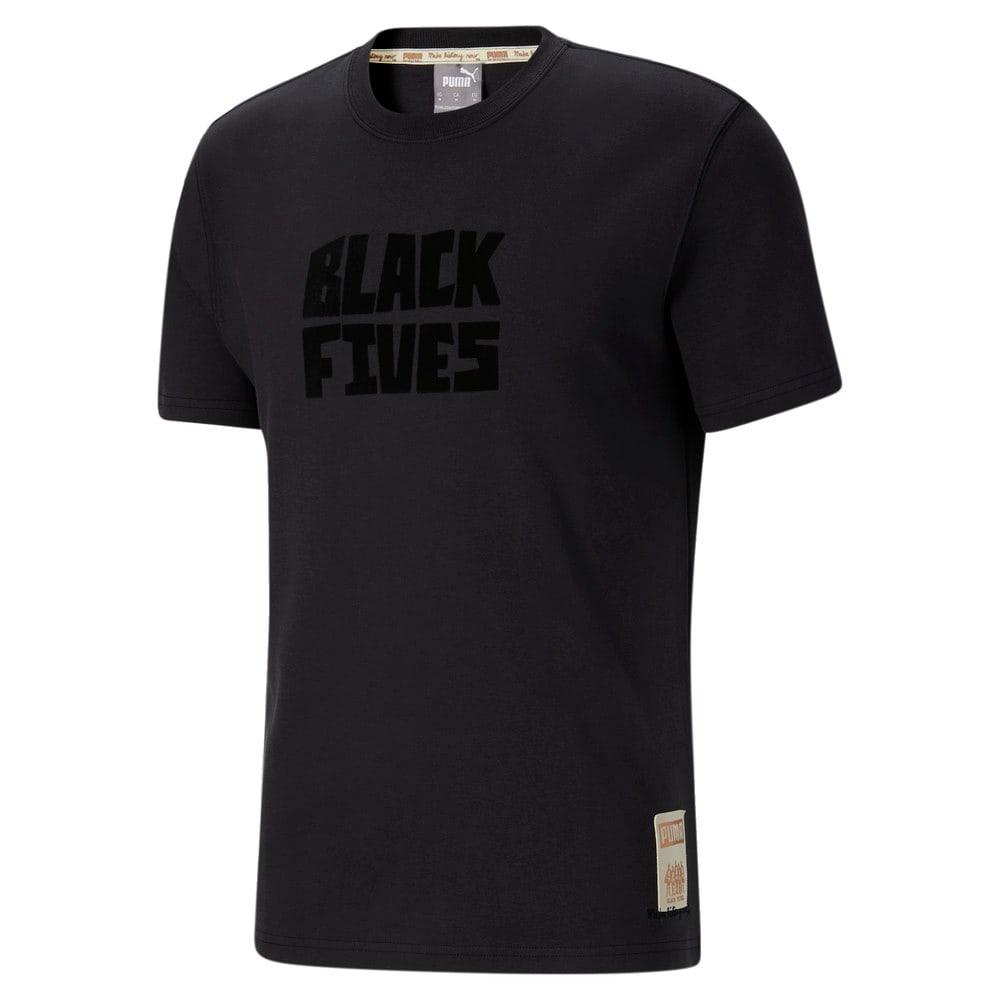 Image Puma Black Fives Timeline Men's Basketball Tee #1