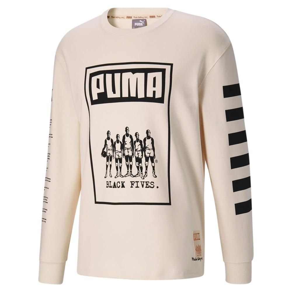 Изображение Puma Футболка с длинными рукавами Black Fives Long Sleeve Men's Basketball Tee #1