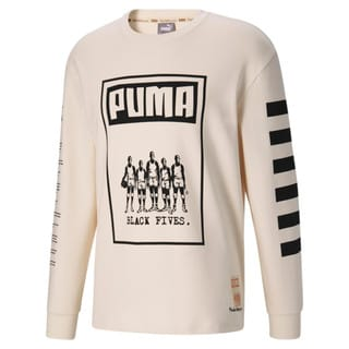 Image Puma Black Fives Long Sleeve Men's Basketball Tee