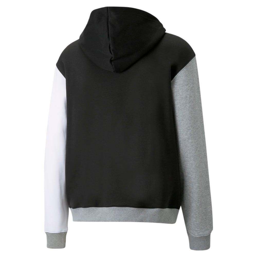 Зображення Puma Толстовка Combine Men's Basketball Hoodie #2: Puma Black-Medium Gray Heather