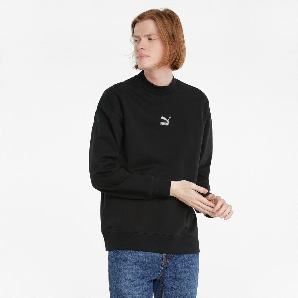 Изображение Puma Толстовка Classics High Crew Neck Men's Sweater #1: Puma Black