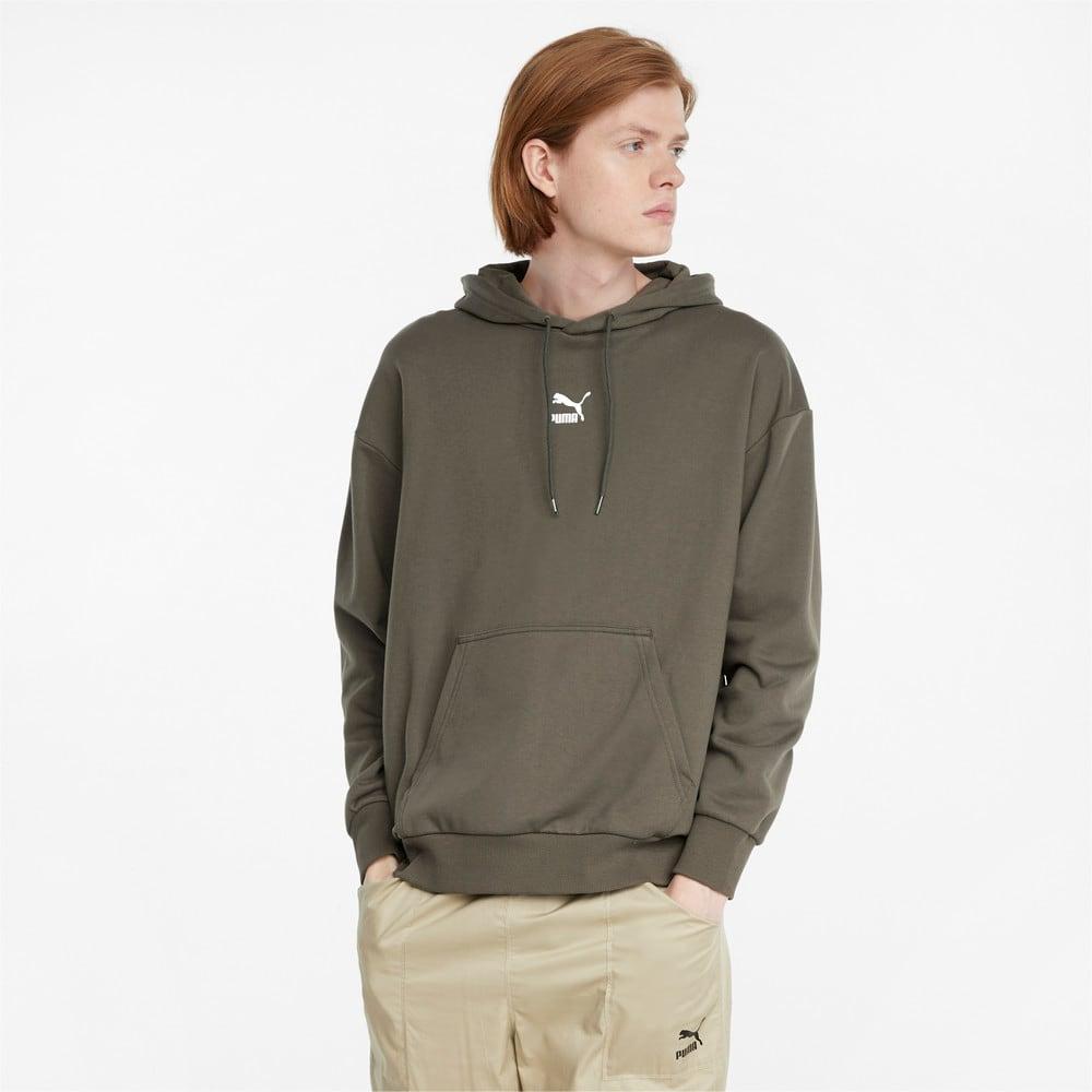 Görüntü Puma CLASSICS Geniş Kesim Erkek Kapüşonlu Sweatshirt #1