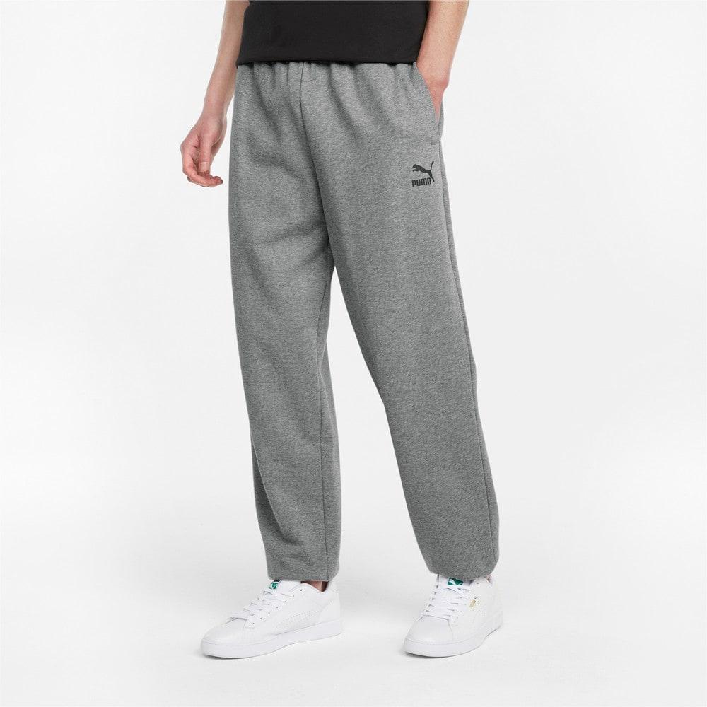 Изображение Puma Штаны Classics Oversized Men's Sweatpants #1: Medium Gray Heather