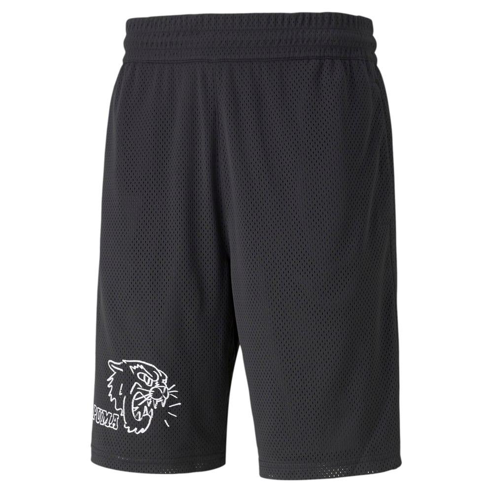 Изображение Puma Шорты Black Fives Men's Basketball Shorts #1: Puma Black