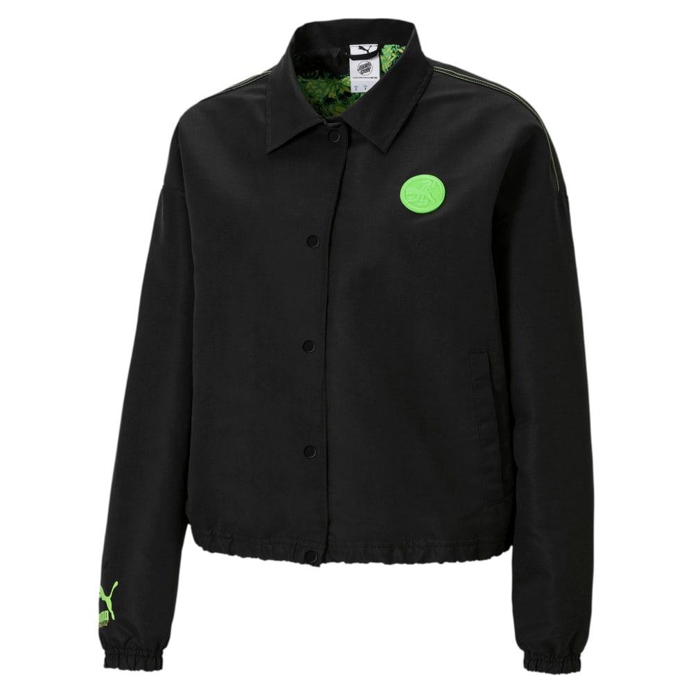 Зображення Puma Куртка PUMA x SANTA CRUZ Women's Coach Jacket #1: Puma Black
