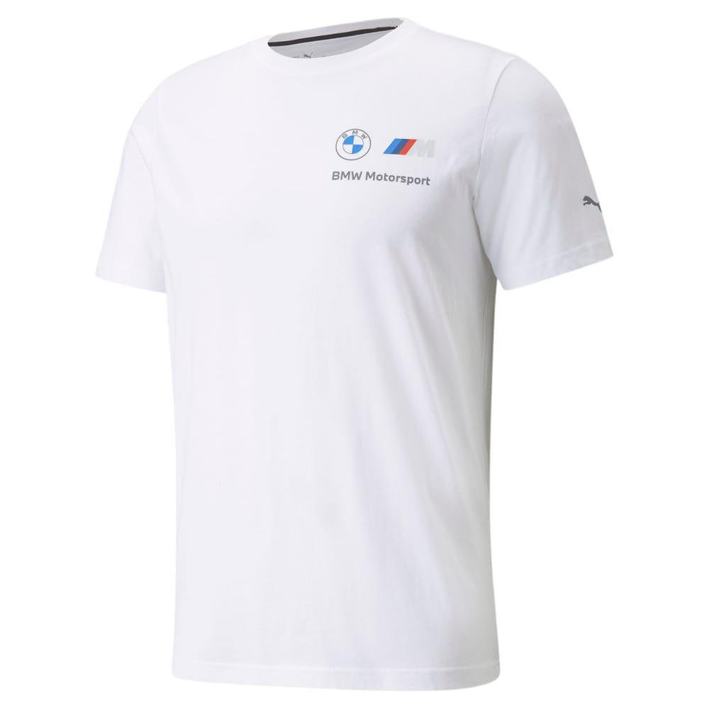 Görüntü Puma BMW M Motorsport ESSENTIALS Küçük Logo Erkek T-shirt #1