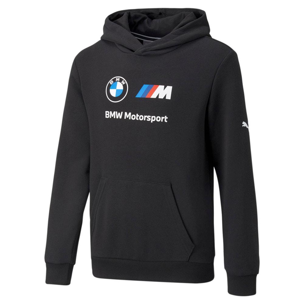 Görüntü Puma BMW M Motorsport ESSENTIALS Logo Youth Kapüşonlu Sweatshirt #1