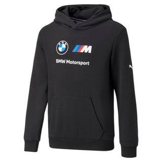 Görüntü Puma BMW M Motorsport ESSENTIALS Logo Youth Kapüşonlu Sweatshirt