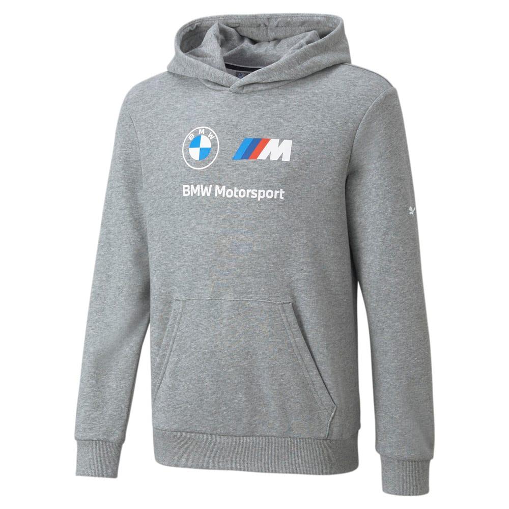Изображение Puma Детская толстовка BMW M Motorsport Essentials Logo Youth Hoodie #1