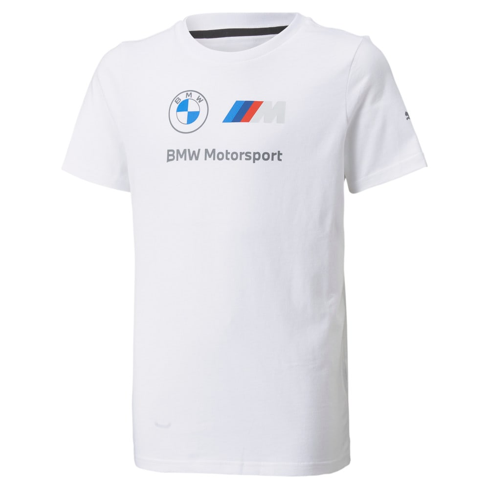 Изображение Puma Детская футболка BMW M Motorsport Essentials Logo Youth Tee #1