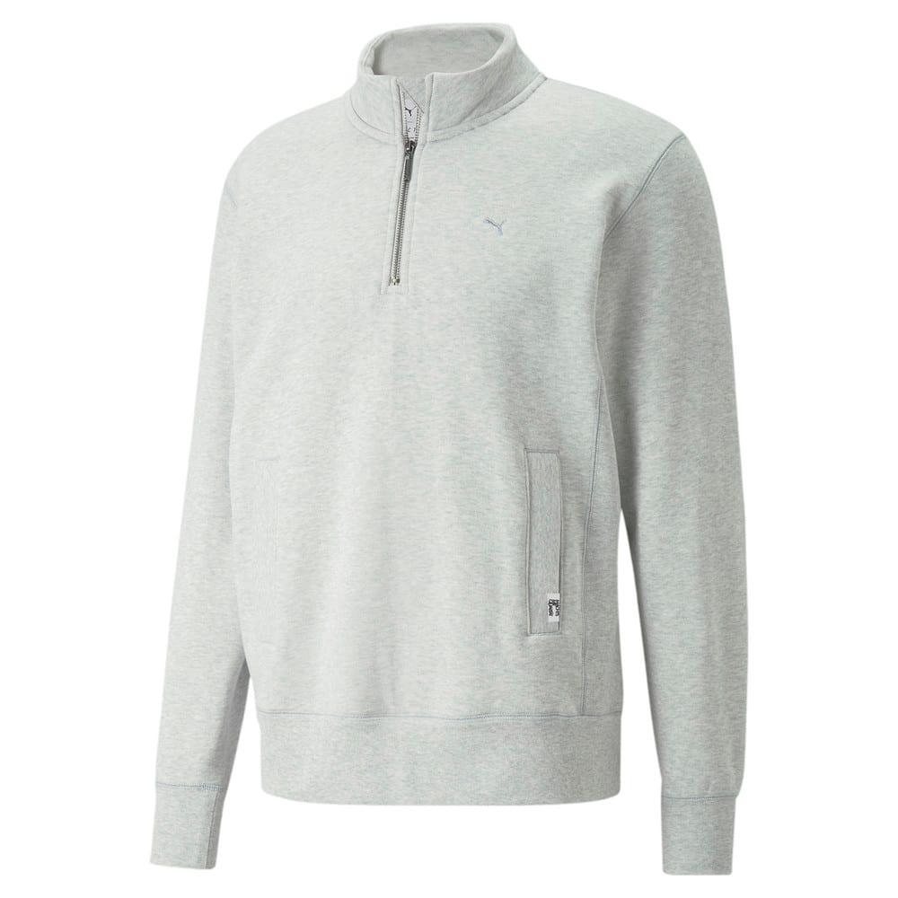 Изображение Puma Толстовка MMQ Mock Neck Sweater #1: Light Gray-Heather BC02