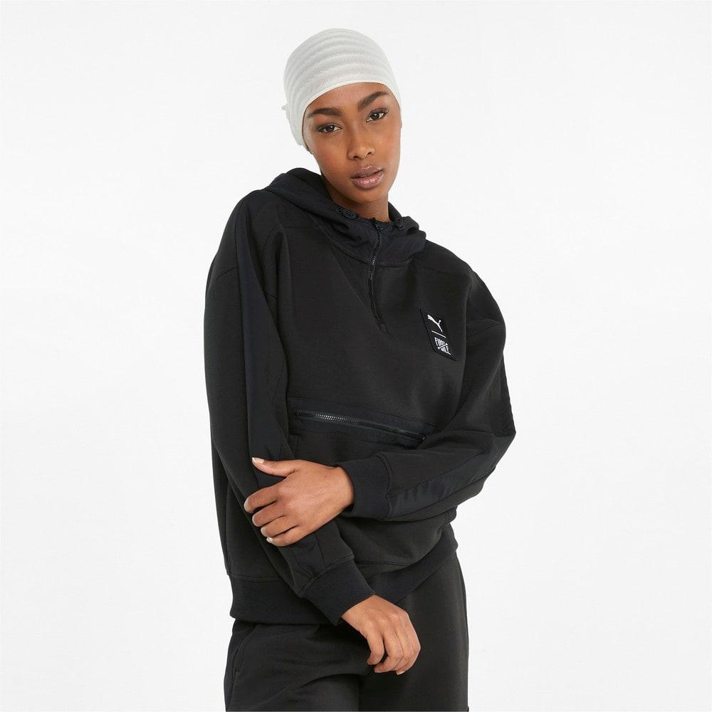 Görüntü Puma PUMA x FIRST MILE DOUBLE KNIT Kadın Kapüşonlu Sweatshirt #1