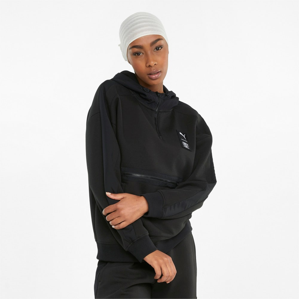 Зображення Puma Толстовка PUMA x FIRST MILE Double Knit Women's Hoodie #1: Puma Black