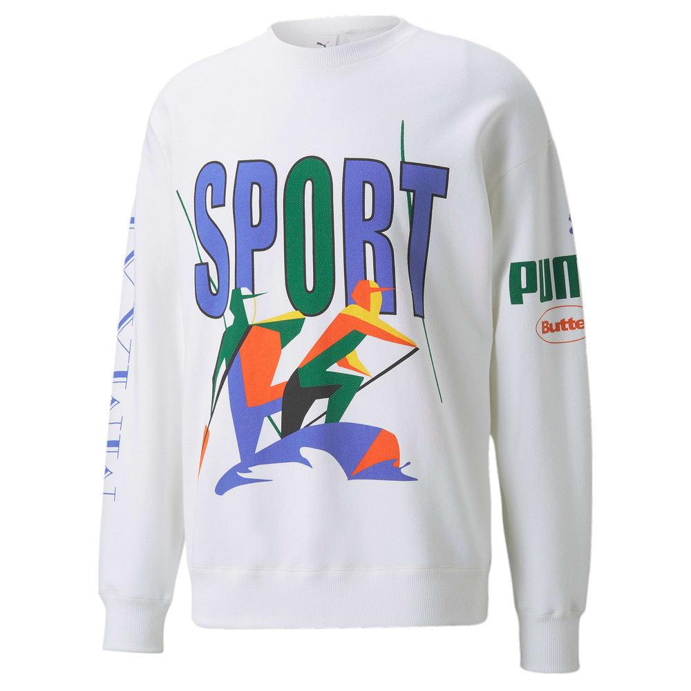 Изображение Puma Толстовка PUMA x BUTTER GOODS Crew Neck Sweater #1: Puma White