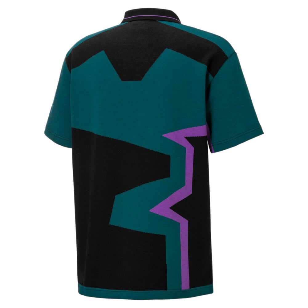 Зображення Puma Поло PUMA x BUTTER GOODS Two-Button Polo Shirt #2: Deep Teal-.AOP