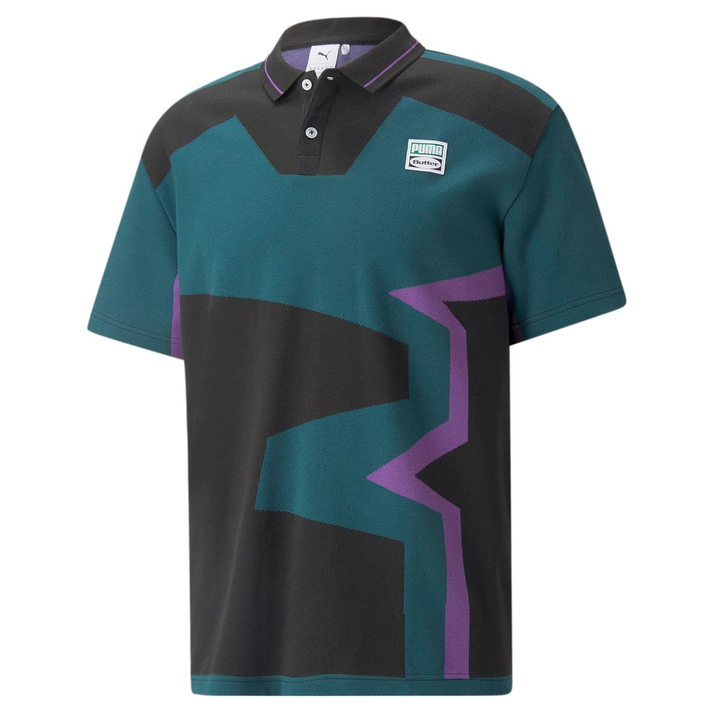 Зображення Puma Поло PUMA x BUTTER GOODS Two-Button Polo Shirt #1: Deep Teal-.AOP