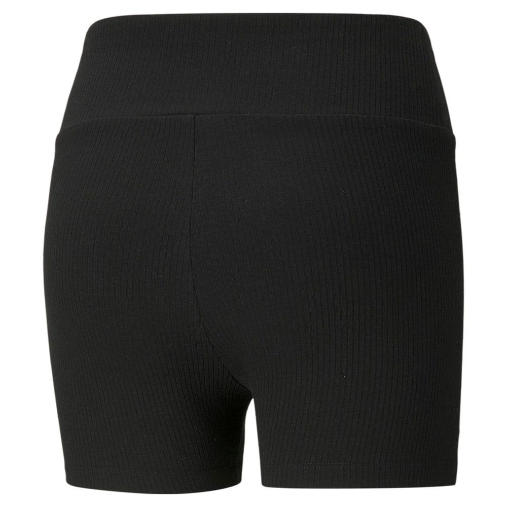 Зображення Puma Шорти Classics Women's Ribbed Short Leggings #2: Puma Black