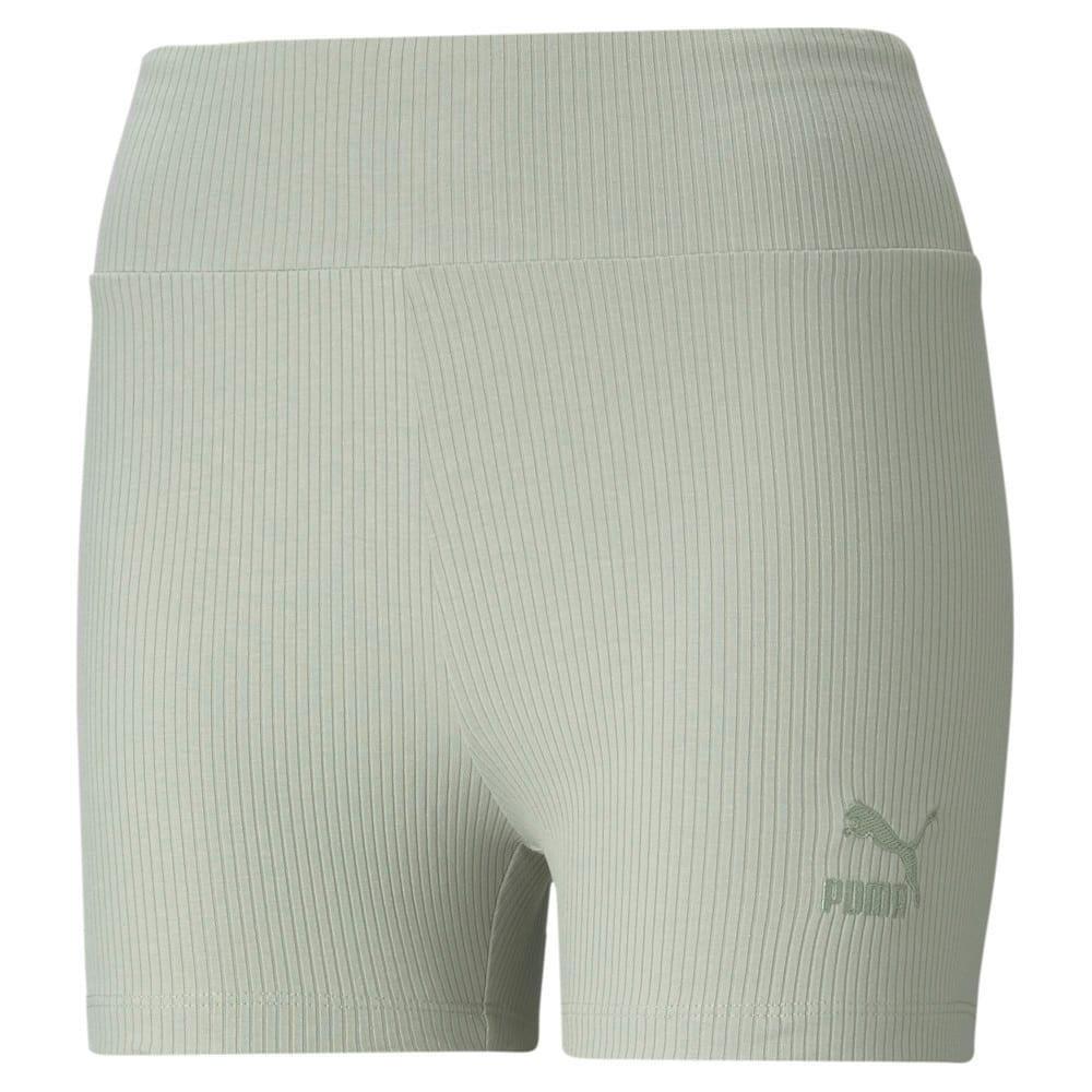 Изображение Puma Шорты Classics Women's Ribbed Short Leggings #1