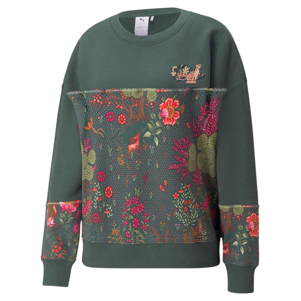 Изображение Puma Толстовка PUMA x LIBERTY Printed Crew Neck Women's Sweatshirt #1