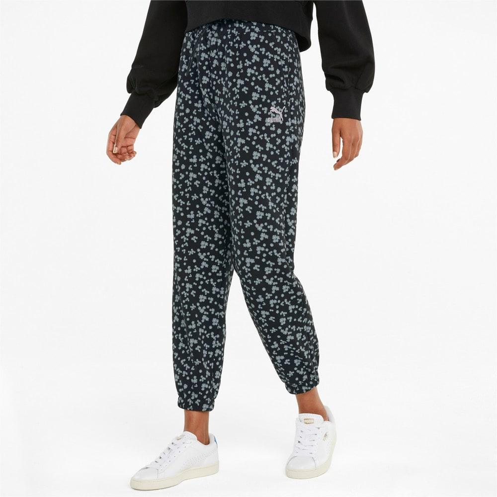 Imagen PUMA Pantalones deportivos para mujer con estampado floral #1