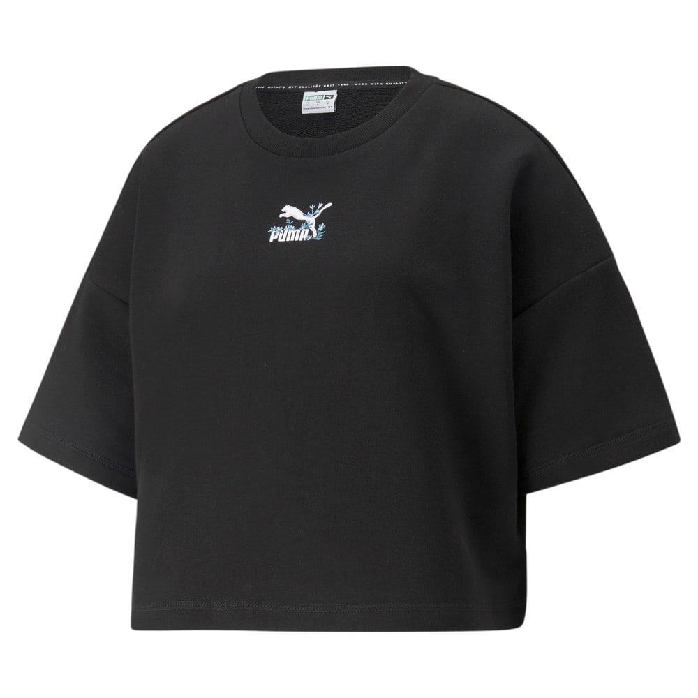 Image PUMA Camiseta Crew Neck Floral Feminina #1