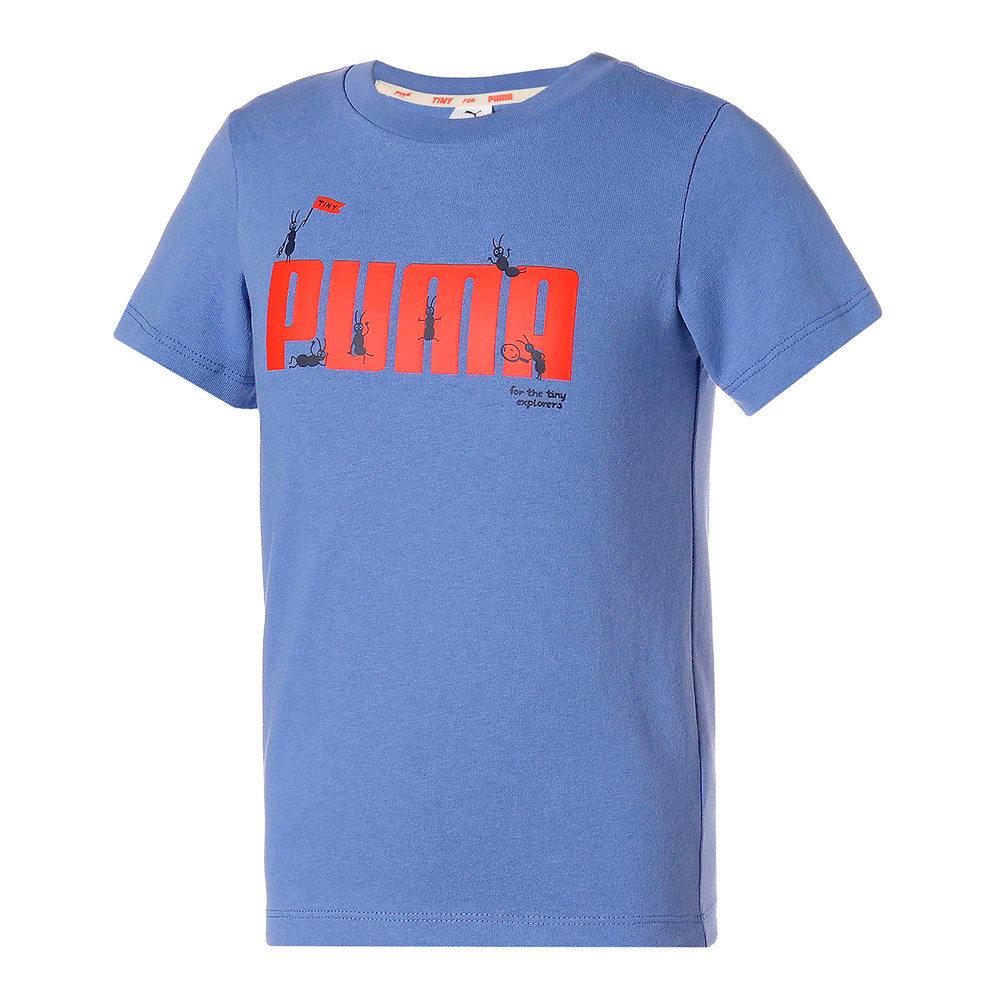 Зображення Puma Дитяча футболка PUMA x TINYCOTTONS Kids' Tee #1: Baja Blue