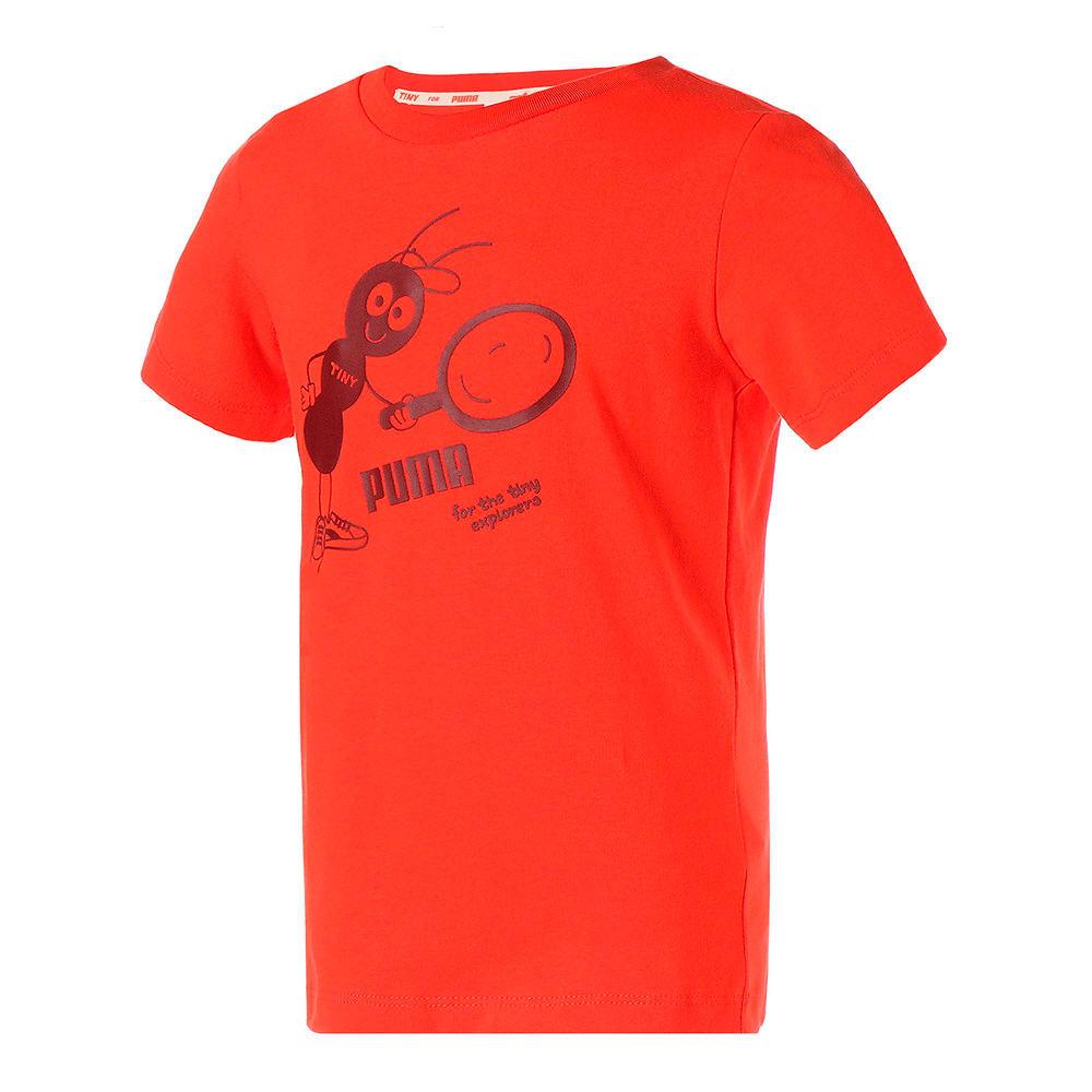 Зображення Puma Дитяча футболка PUMA x TINYCOTTONS Kids' Tee #1: grenadine