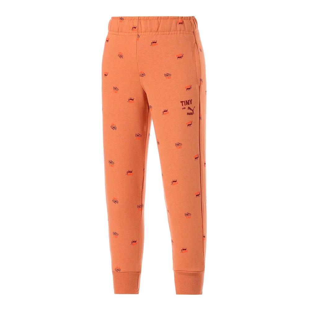 Изображение Puma Детские штаны PUMA x TINYCOTTONS Printed Kids' Sweatpants #1: Pheasant