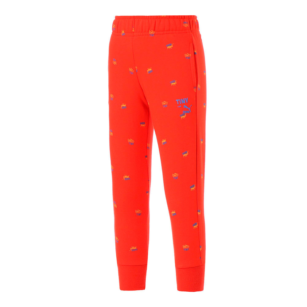 Изображение Puma Детские штаны PUMA x TINYCOTTONS Printed Kids' Sweatpants #1: grenadine