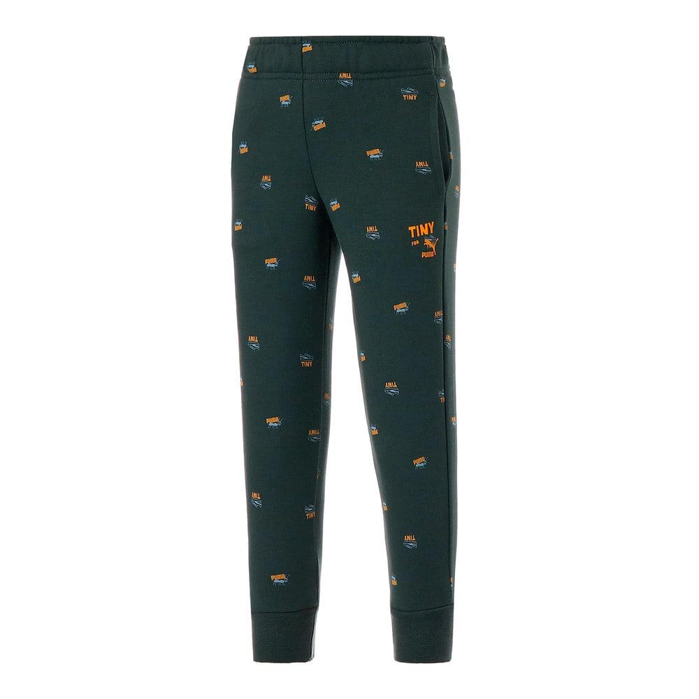 Изображение Puma Детские штаны PUMA x TINYCOTTONS Printed Kids' Sweatpants #1: Green Gables