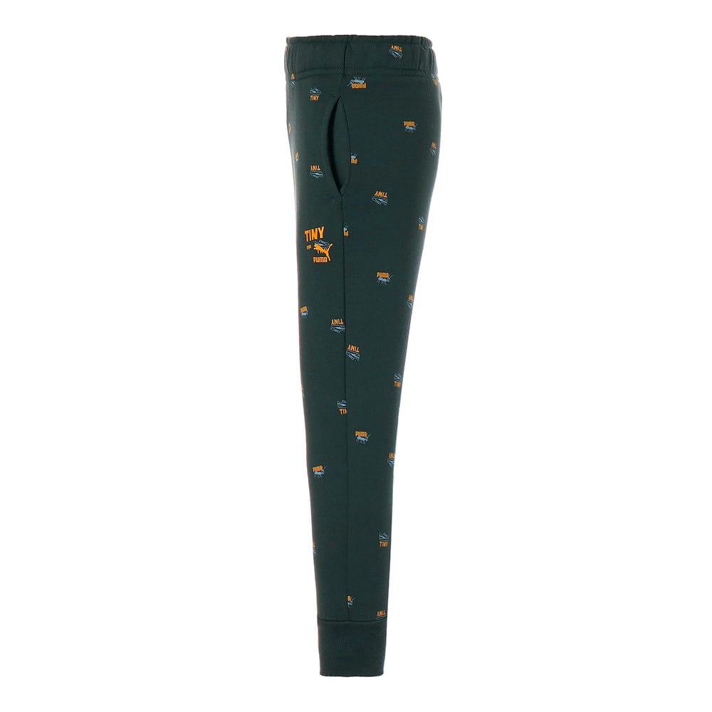 Изображение Puma Детские штаны PUMA x TINYCOTTONS Printed Kids' Sweatpants #2: Green Gables
