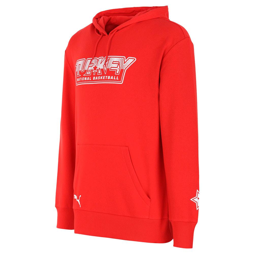 Görüntü Puma Türkiye Basketbol Milli Takım Fan Kapüşonlu Sweatshirt #1
