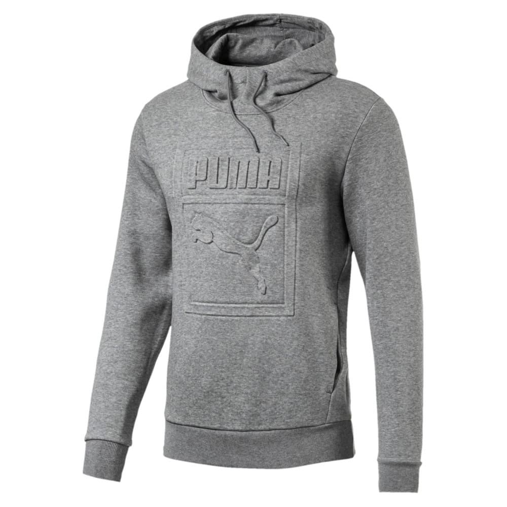 Görüntü Puma CLASSICS ARCHIVE Embossed Logo Kapüşonlu Erkek Sweatshirt #1