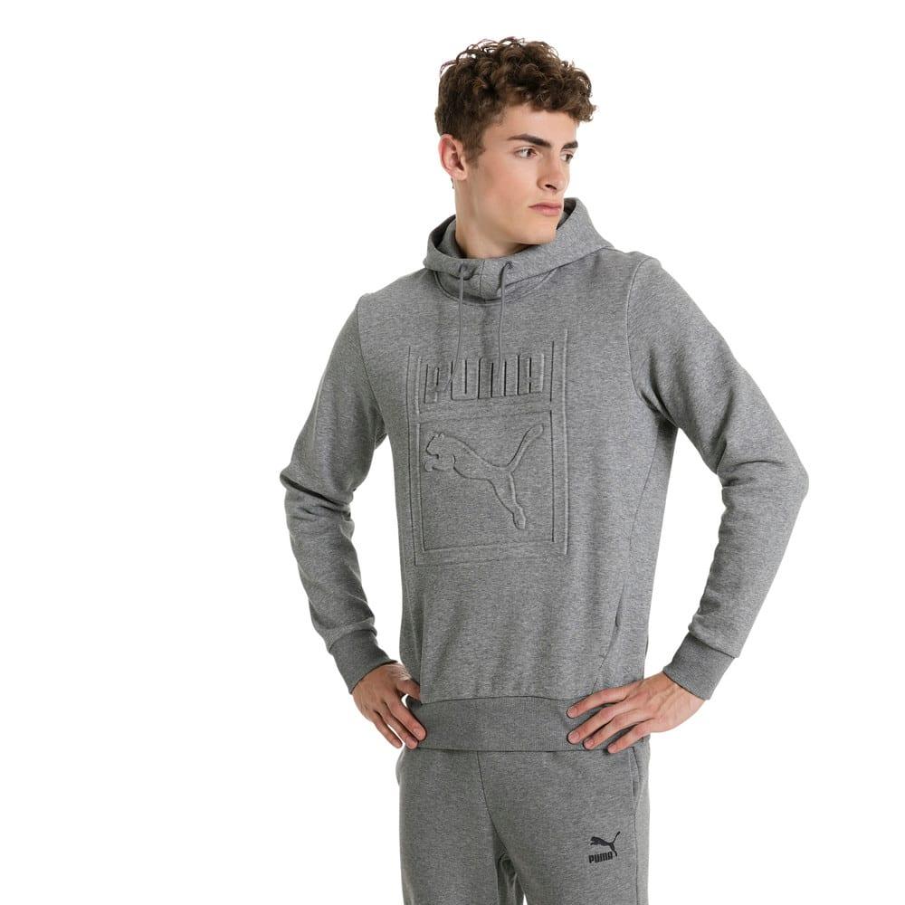Görüntü Puma CLASSICS ARCHIVE Embossed Logo Kapüşonlu Erkek Sweatshirt #2
