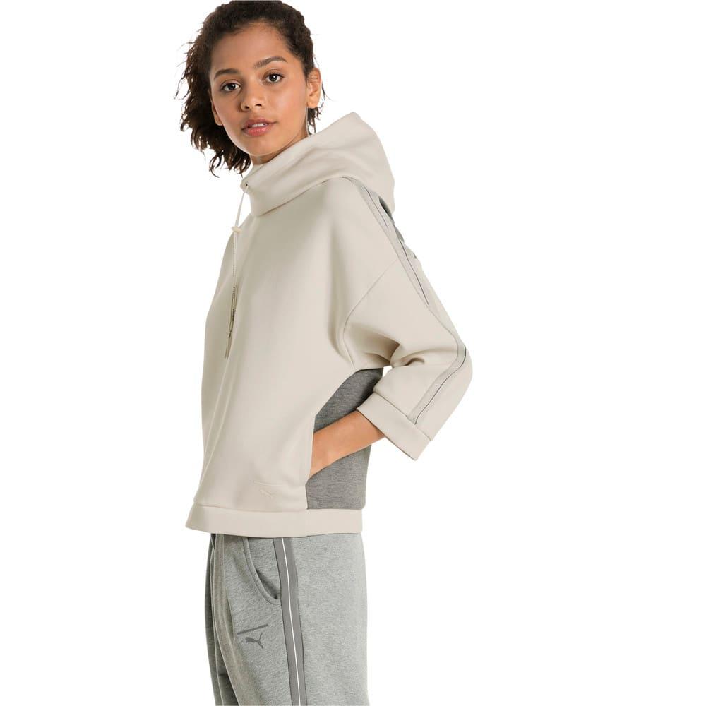 Görüntü Puma EVOLUTION Tape Funnel Neck Kapüşonlu Kadın Sweatshirt #2