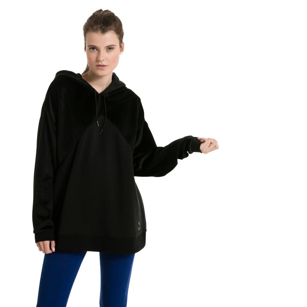 Görüntü Puma ARCHIVE FABRIC Block Kapüşonlu Kadın Sweatshirt #2