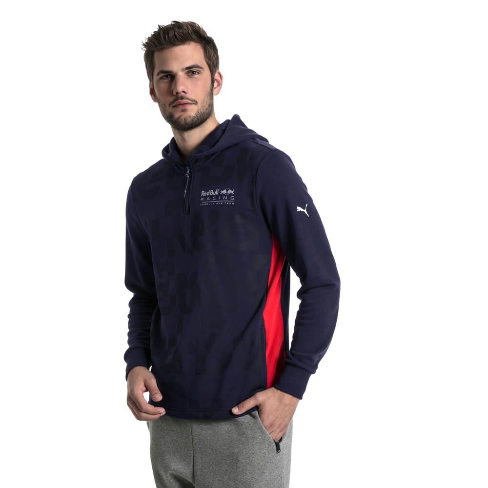Görüntü Puma Red Bull RACING Yarım Fermuarlı Kapüşonlu Erkek Sweatshirt #2