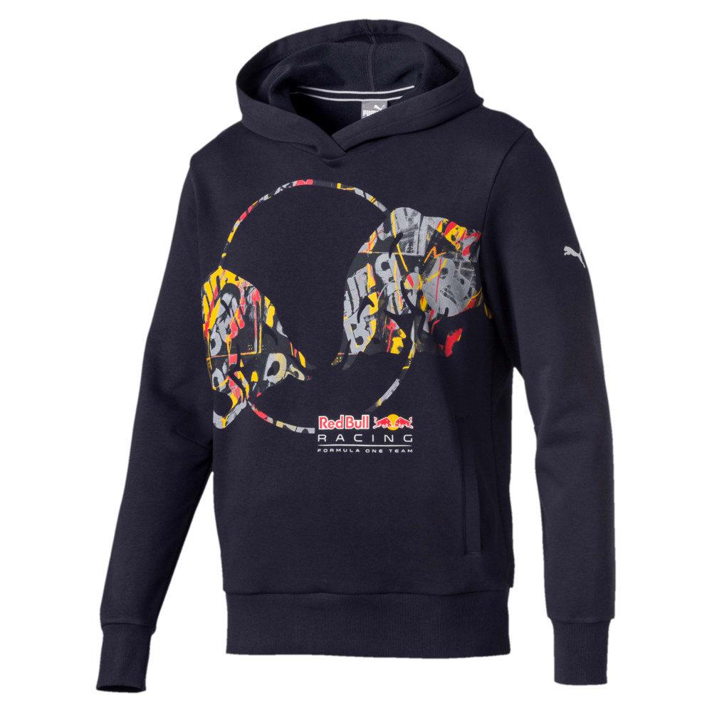 Görüntü Puma RED BULL RACING Double Bull Kapüşonlu Erkek Sweatshirt #1