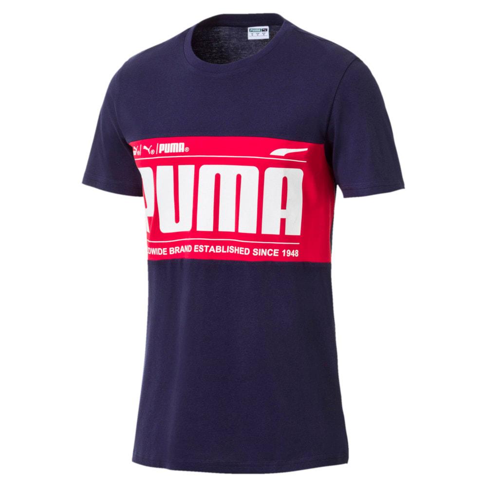 Imagen PUMA Polera deportiva con bloque con el logotipo gráfico para hombre #1