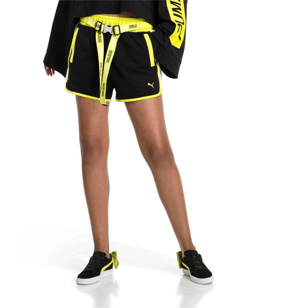 Imagen PUMA Shorts de cintura alta con cordones Archive Xtreme para mujer #1