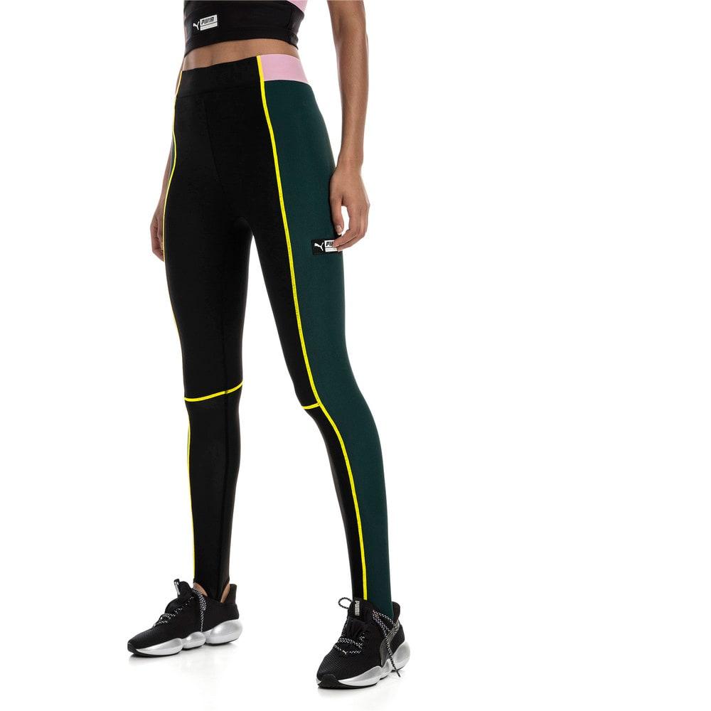 Imagen PUMA Calzas con cintura alta y estribos TZ para mujer #1