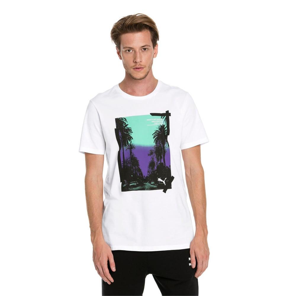 Imagen PUMA Polera con elemento gráfico con palmeras para hombre #1