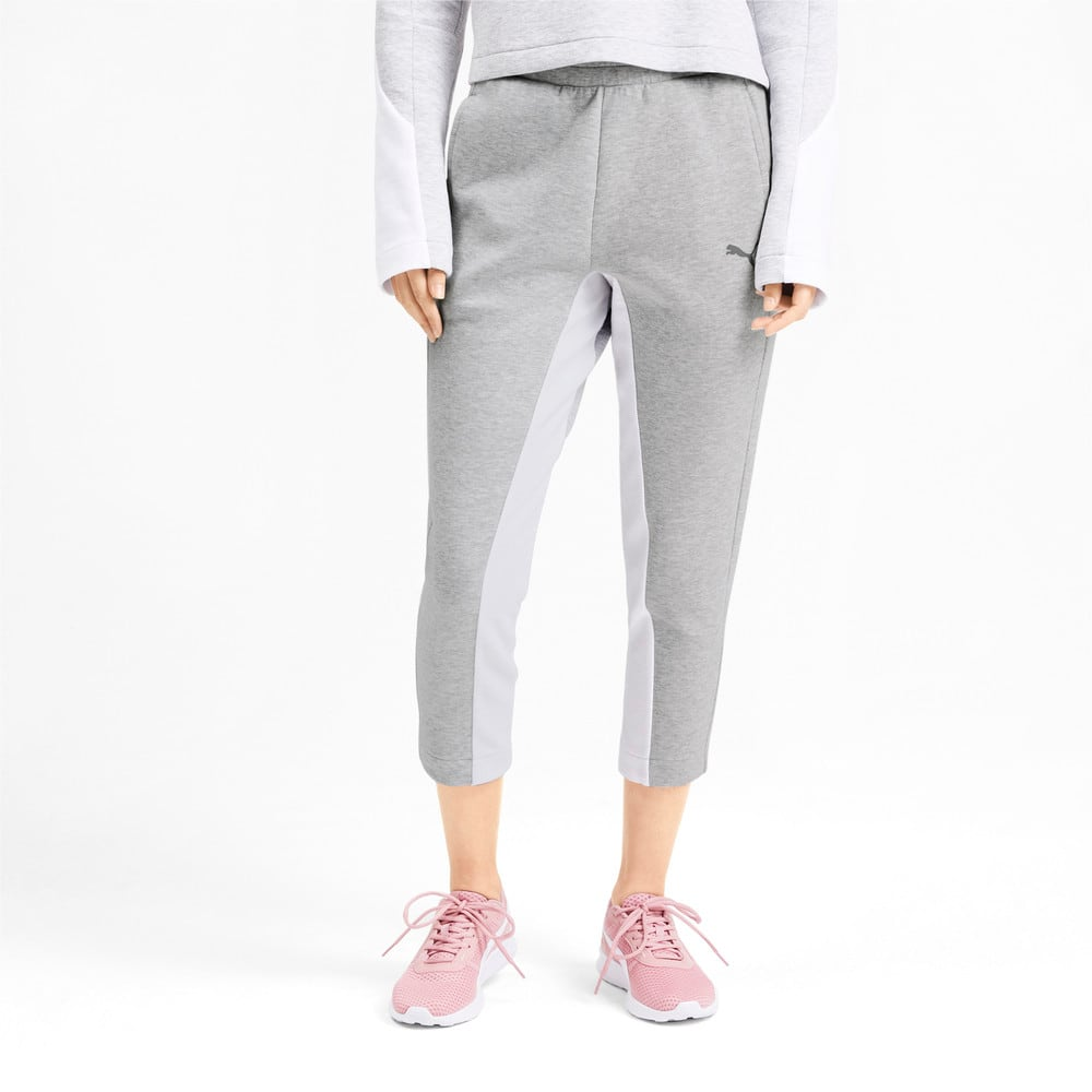 Pantalones Deportivos Evostripe Para Mujer Gris Puma