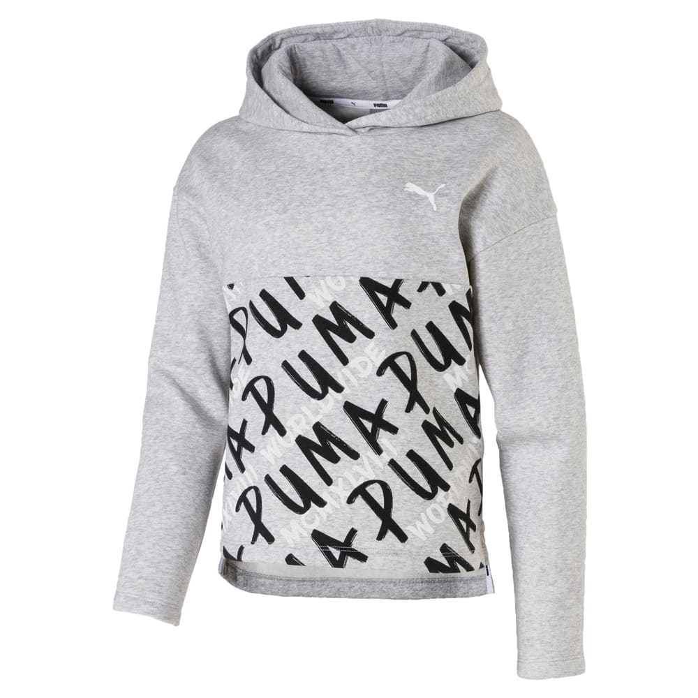 Изображение Puma Детская толстовка Girls' Alpha Hoodie #1: light gray heather