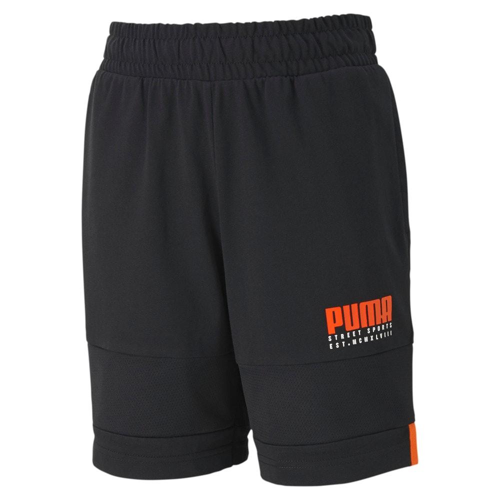 Изображение Puma Детские шорты Alpha Jersey Shorts #1