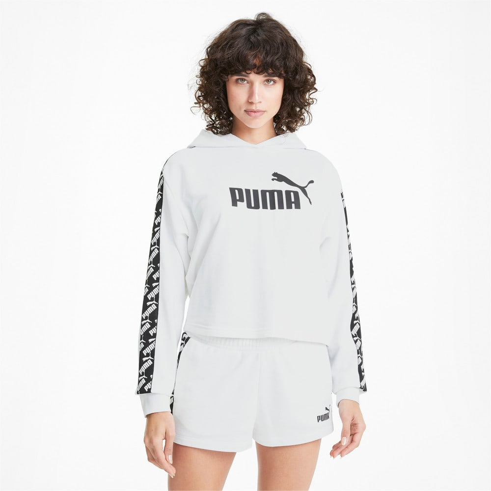 Görüntü Puma PUMA Kısa Kesim Kadın Antrenman Kapüşonlu Sweatshirt #1