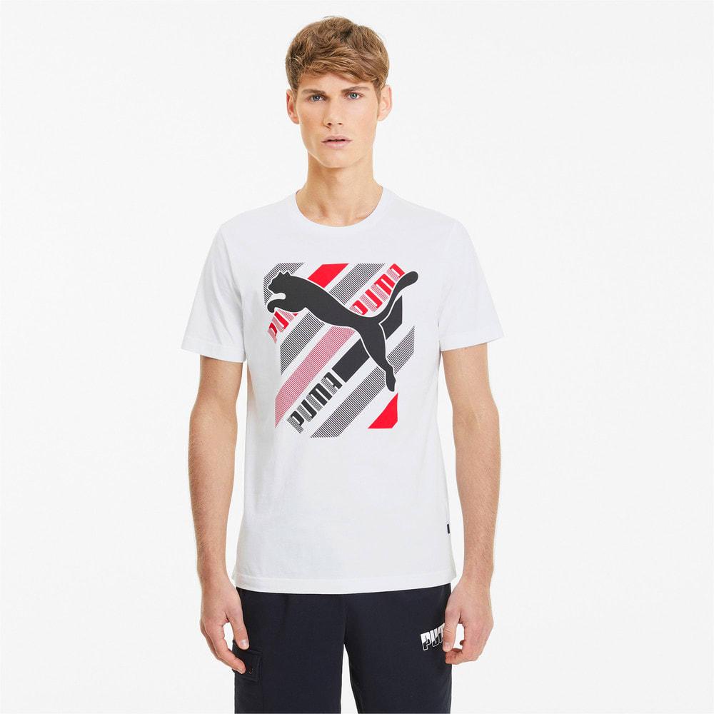 Görüntü Puma Cat Brand GRAPHIC Erkek T-shirt #1